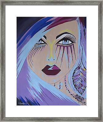 Framed Print featuring the painting Naira by Kathleen Sartoris