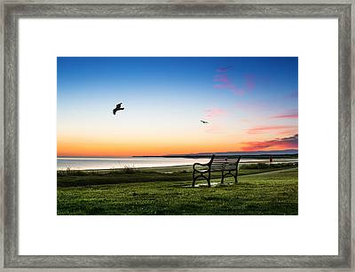Nairn Beach At Dawn Framed Print
