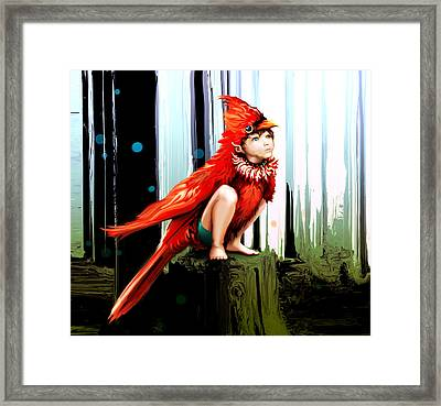 Naive Trickster Framed Print by Terre Britton