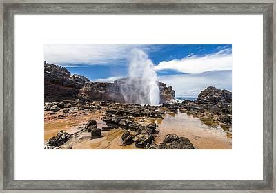 Nakalele Blow Hole Maui Framed Print