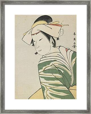 Nakamura Noshio II As Tonase Framed Print by Katsukawa Shunei