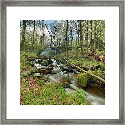 Naked Creek Falls Framed Print