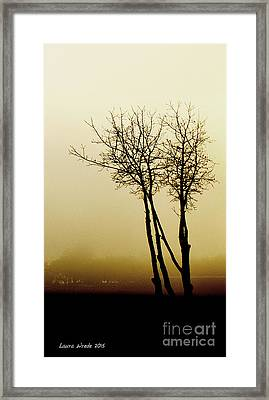 Naked Trees 1 Framed Print by Artist and Photographer Laura Wrede