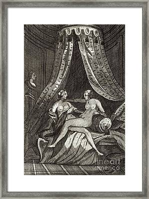 Naked Women, 17th Century Artwork Framed Print by British Library