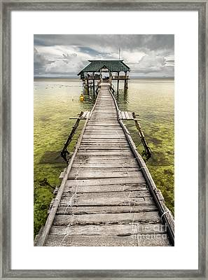 Nalusuan Island Pier Framed Print by Adrian Evans