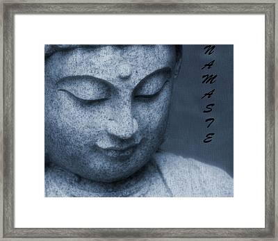 Namaste Buddha Framed Print by Dan Sproul