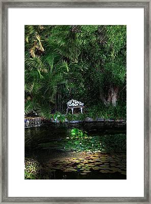 Namaste Framed Print by Cary Shapiro
