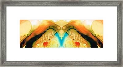 Namaste - Divine Art By Sharon Cummings Framed Print by Sharon Cummings