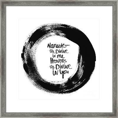 Namaste Enso Framed Print