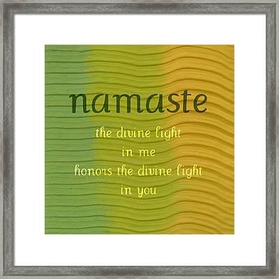 Namaste Framed Print by Michelle Calkins