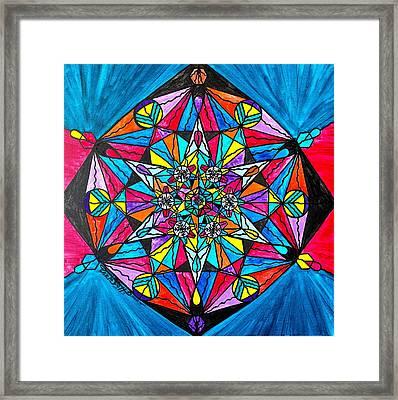 Namaste Framed Print by Teal Eye  Print Store