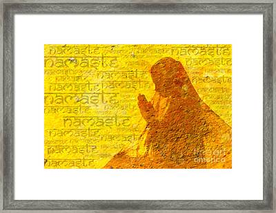 Namaste  Framed Print by Tim Gainey