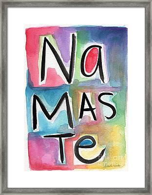 Namaste Watercolor Framed Print