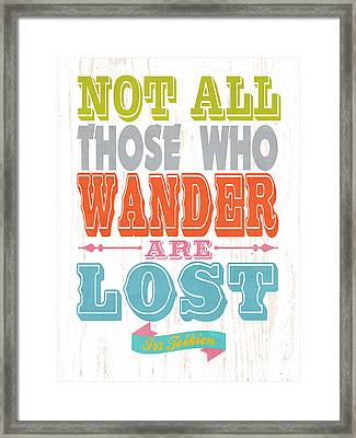 Name Qoute Art - Irr Tolkien. Framed Print by Joy House Studio
