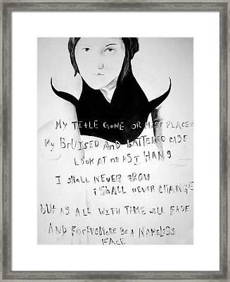 Nameless Framed Print by Corina Bishop