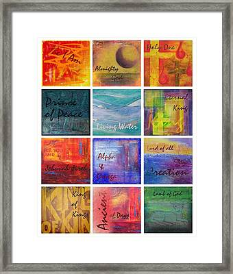 Names Of God Framed Print by Jocelyn Friis