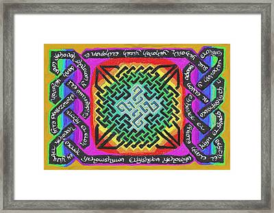 Names Of Yhwh Framed Print