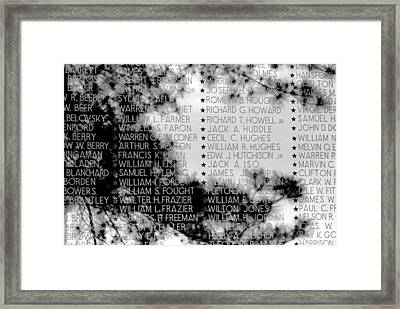 Names On The Wall Framed Print