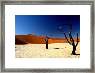 Namibia Framed Print by Riana Van Staden