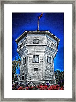 Framed Print featuring the digital art Nanaimo Bastion by Richard Farrington