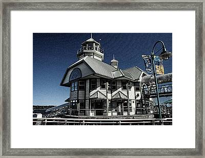 Framed Print featuring the digital art Nanaimo Bistro by Richard Farrington