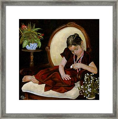 Framed Print featuring the painting Nana's Locket by Rick Fitzsimons
