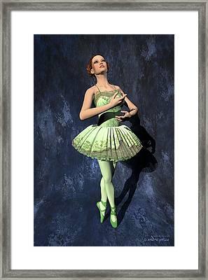 Nanashi - Ballerina Portrait Framed Print by Andre Price