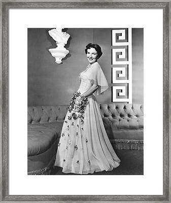 Nancy Davis, Aka Nancy Reagan, Modeling Framed Print by Everett