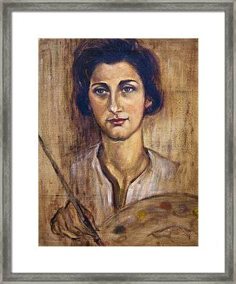 Nancy Kominsky - A Self-portrait Framed Print by    Michaelalonzo   Kominsky