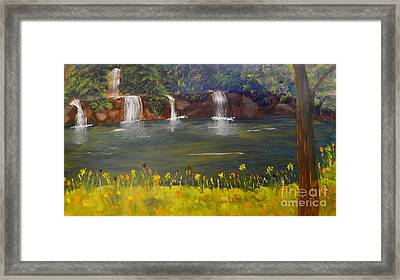 Nandroy Falls In Queensland Framed Print