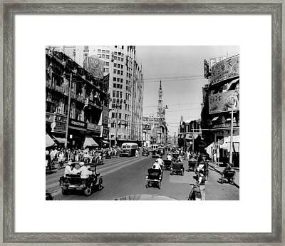 Nanking Road In Shanghai 1949 Framed Print by Retro Images Archive