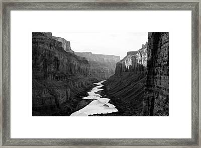 Framed Print featuring the photograph Nankoweap B-w by Atom Crawford
