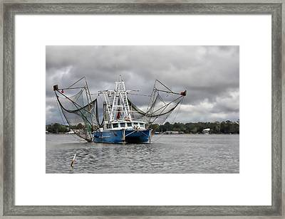 Nanny Granny On The Bon Secour River Framed Print by Lynn Jordan