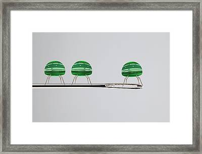 Nanorobots On A Needle Framed Print