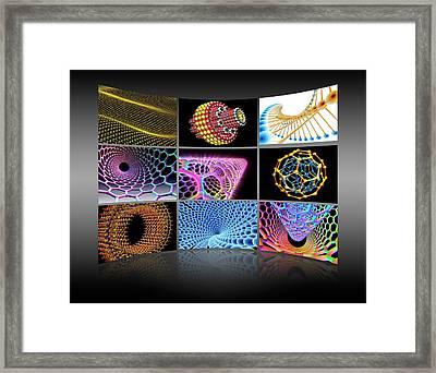 Nanotechnology Display Wall Framed Print by Alfred Pasieka