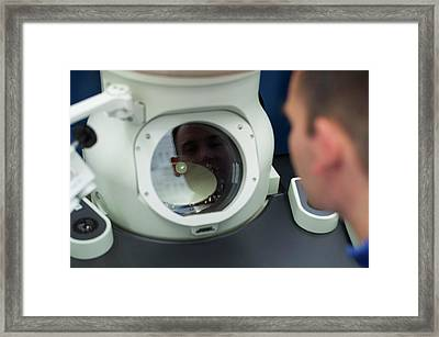 Nanotechnology Microscopy Framed Print by Ibm Research