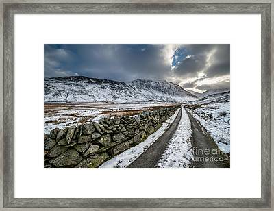 Nant Ffrancon Pass Framed Print by Adrian Evans