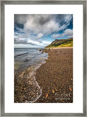 Nant Gwrtheyrn Shore Framed Print by Adrian Evans