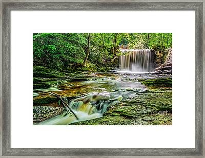 Nant Mill Waterfall Framed Print by Adrian Evans