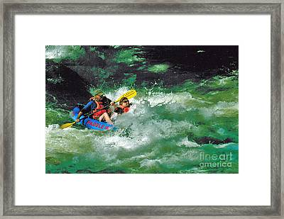 Nantahala Fun Framed Print by Don F  Bradford