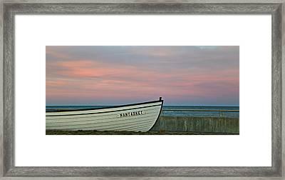 Nantasket Beach Boat Framed Print by Patricia Abbate