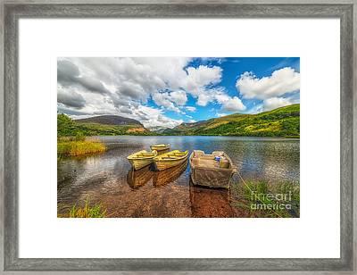 Nantlle Lake Framed Print by Adrian Evans
