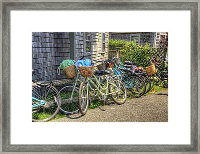 Nantucket Bikes Framed Print