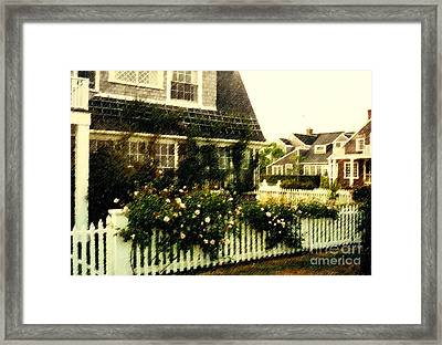 Nantucket Cottage Framed Print by Desiree Paquette