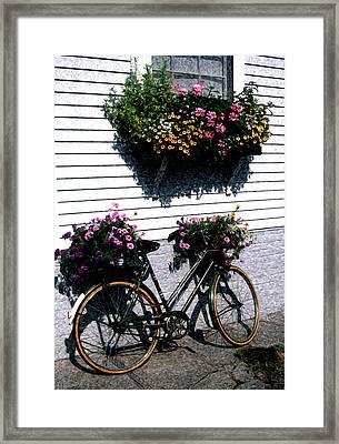 Nantucket Flower Basket - Artistic Framed Print by Marianne Miles