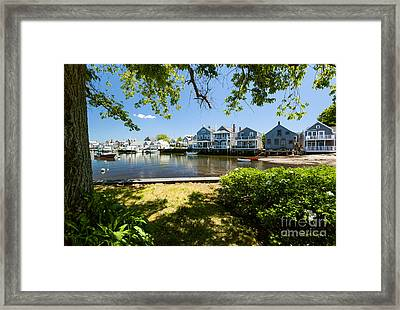 Nantucket Homes By The Sea Framed Print
