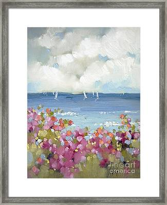 Nantucket Sea Roses Framed Print by Joyce Hicks