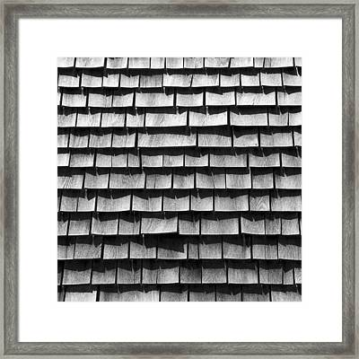 Nantucket Shingles Framed Print