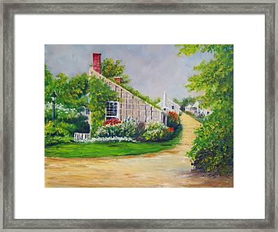 Nantucket Street Framed Print