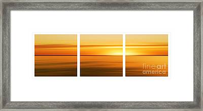 Nantucket Sunset Framed Print by Sabine Jacobs